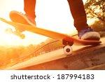 skateboarding  | Shutterstock . vector #187994183