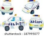 police's cars | Shutterstock .eps vector #187995077