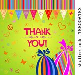 thank you card. vector... | Shutterstock .eps vector #188006183