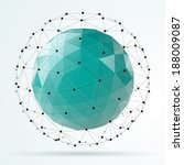 abstract polygonal sphere | Shutterstock . vector #188009087