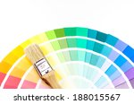 paintbrush and colorful paint... | Shutterstock . vector #188015567