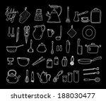 kitchenware. doodle set. | Shutterstock . vector #188030477