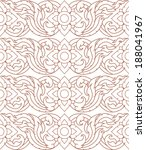 complementary line thai pattern ... | Shutterstock .eps vector #188041967