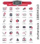 media   marketing icons red...   Shutterstock .eps vector #188044163