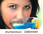 head shot of young  attractive... | Shutterstock . vector #18804484