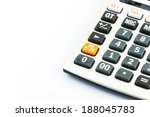 caculator isolated on white... | Shutterstock . vector #188045783