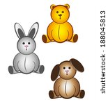 animal toys | Shutterstock .eps vector #188045813