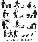 icons relationship between... | Shutterstock .eps vector #188090813