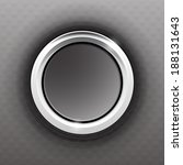 gray button with a steel ring...   Shutterstock . vector #188131643