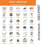 media   marketing icons orange... | Shutterstock .eps vector #188139887