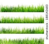 fresh spring green grass... | Shutterstock .eps vector #188142683