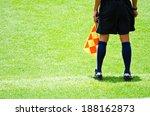 football lineman on the...   Shutterstock . vector #188162873