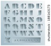 hole alphabets font style... | Shutterstock .eps vector #188163173
