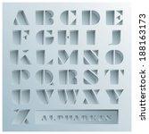 hole alphabets font style... | Shutterstock .eps vector #188163173