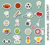 sports icons  | Shutterstock .eps vector #188167097
