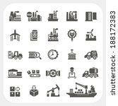 industry icons set | Shutterstock .eps vector #188172383