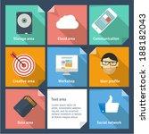 minimalist flat ui vector... | Shutterstock .eps vector #188182043