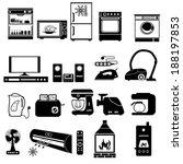 House appliance, icon set