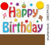 happy birthday | Shutterstock . vector #188199113