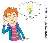 man with an idea  vector... | Shutterstock .eps vector #188202917