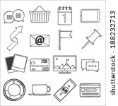 modern flat icons vector...