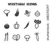 vegetable icons  mono vector... | Shutterstock .eps vector #188255297