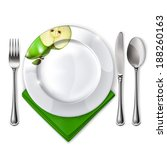 empty plate with spoon  knife... | Shutterstock .eps vector #188260163