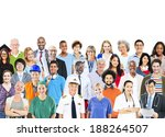 group of multiethnic diverse... | Shutterstock . vector #188264507