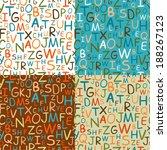 set of seamless patterns of... | Shutterstock .eps vector #188267123