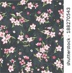 seamless spring blossom flower... | Shutterstock .eps vector #188270543