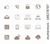 internet icons set  | Shutterstock .eps vector #188278787