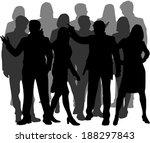 group of people  | Shutterstock .eps vector #188297843