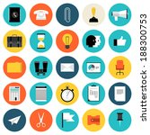 flat design icons set modern... | Shutterstock .eps vector #188300753