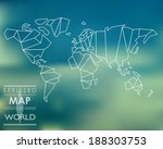 stylized map of world. world... | Shutterstock .eps vector #188303753