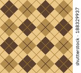 argyle pattern in browns and... | Shutterstock . vector #188329937