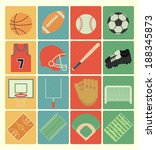 team sports icons set | Shutterstock .eps vector #188345873