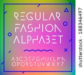 fashion alphabet letters... | Shutterstock .eps vector #188346497