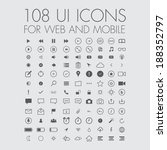 108 icons for web and mobile