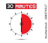 thirty minutes stop watch  ... | Shutterstock .eps vector #188374517