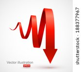 red spiral arrow 3d. | Shutterstock .eps vector #188377967