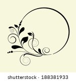 decorative oval frame   element ...   Shutterstock .eps vector #188381933
