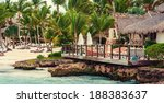 tropical paradise beach.... | Shutterstock . vector #188383637