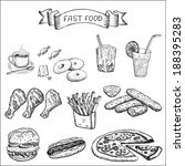 fast food and other food. set... | Shutterstock .eps vector #188395283