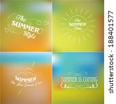 summer labels retro elements... | Shutterstock .eps vector #188401577