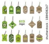 eco organic labels big set. | Shutterstock .eps vector #188408267