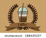 coffee design over brown...