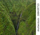 overlooking hawaii's lush green ... | Shutterstock . vector #188439713