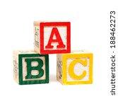 wooden alphabet blocks  | Shutterstock . vector #188462273