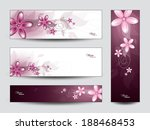 vector collection of floral... | Shutterstock .eps vector #188468453