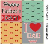 happy fathers day card vintage... | Shutterstock .eps vector #188476823